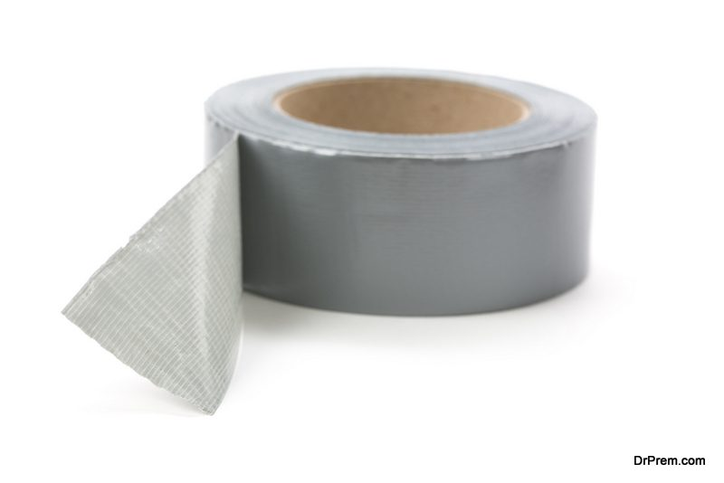 Paste a double sided tape
