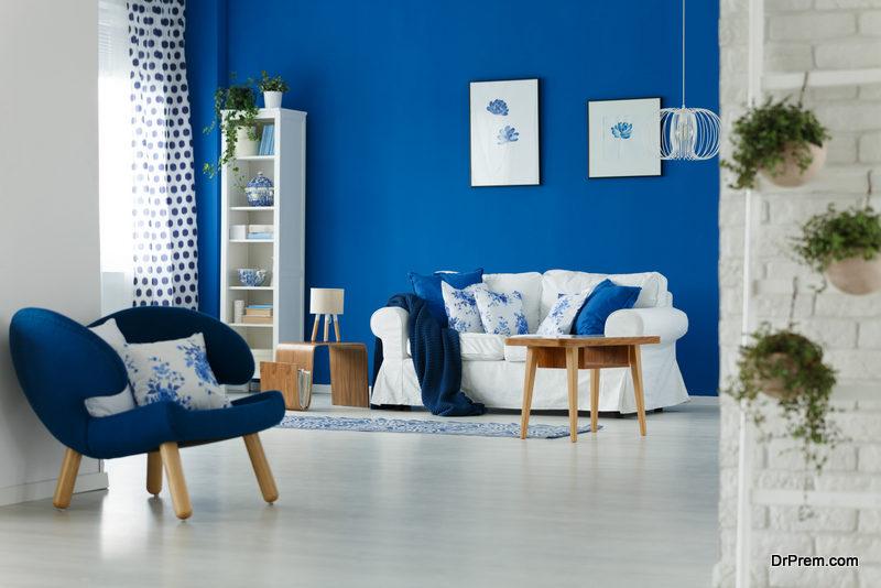 Color blocking- blue theme