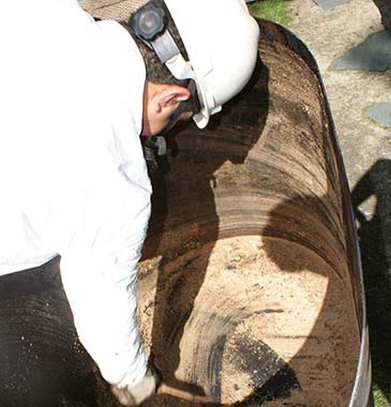removing oil tank