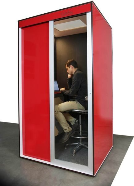The talkbox is a phone booth