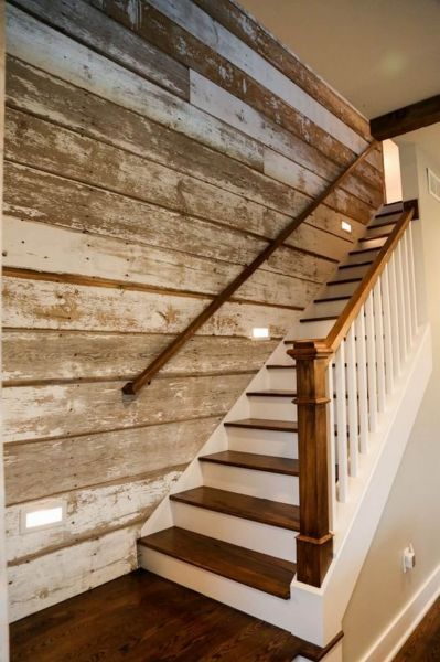 stained shiplap wall ideas
