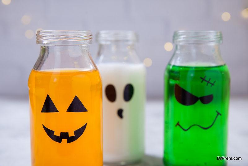 Scary glass bottles