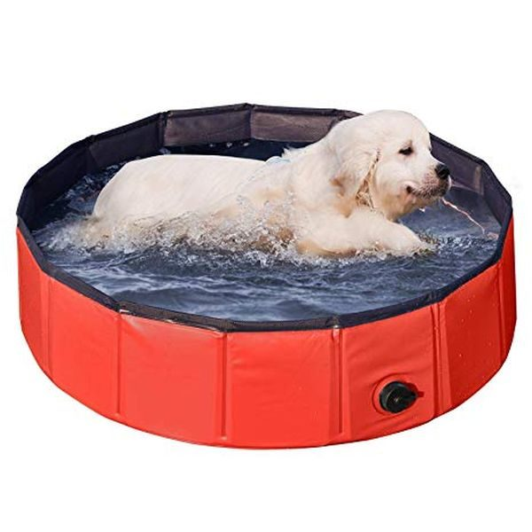 Yaheetech Foldable Pet Bath Pool