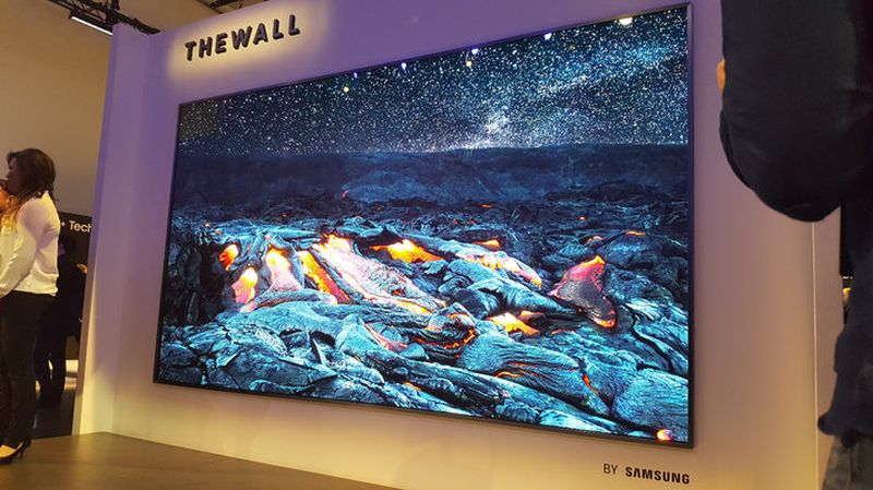Samsung's gigantic microled 'The Wall' television