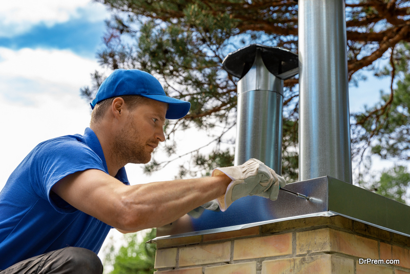 Installing a metal chimney