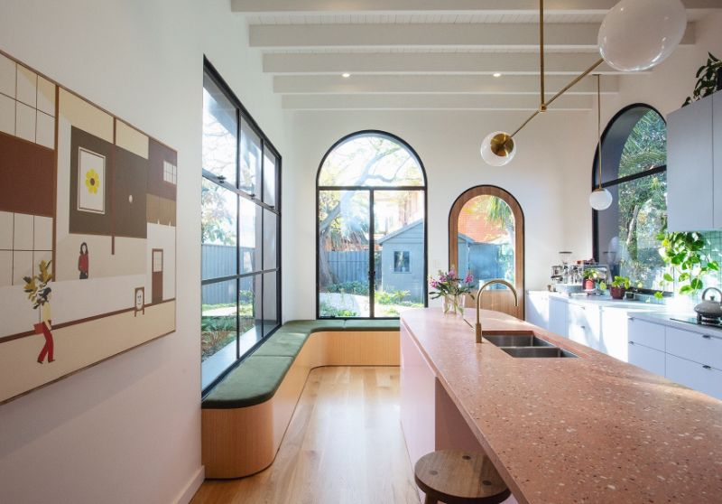 Pink Terrazzo and Archways, Sans-Arc-Studio, Adelaide