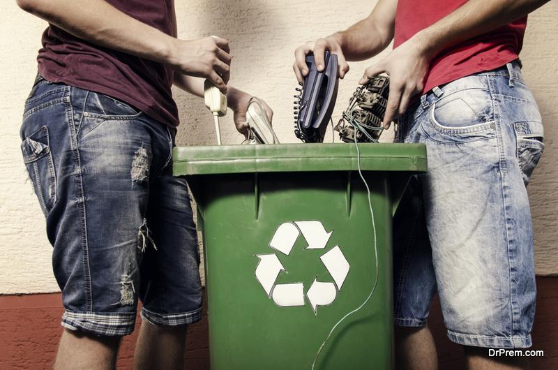 E waste concept,