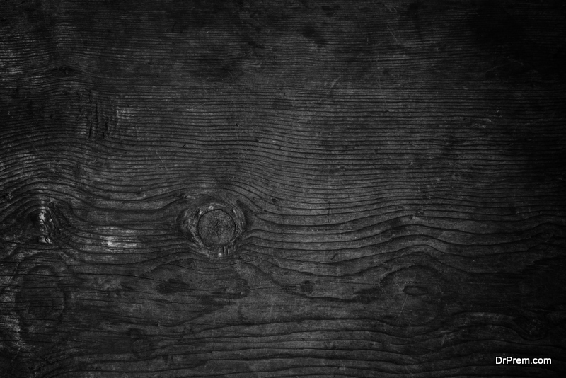 Charred-timber