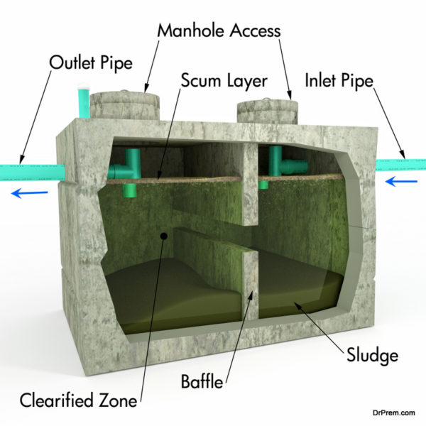 details about the septic system