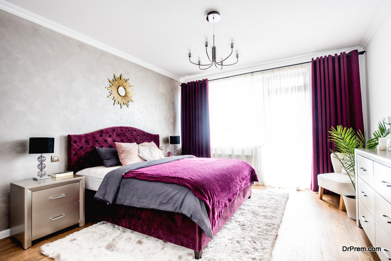 beautiful purple bedroom