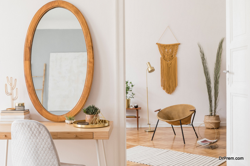 Mirrors are another chic item