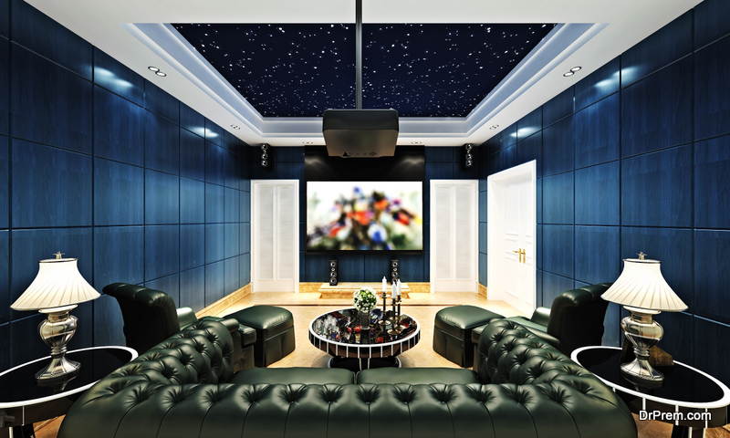 size of the movie room