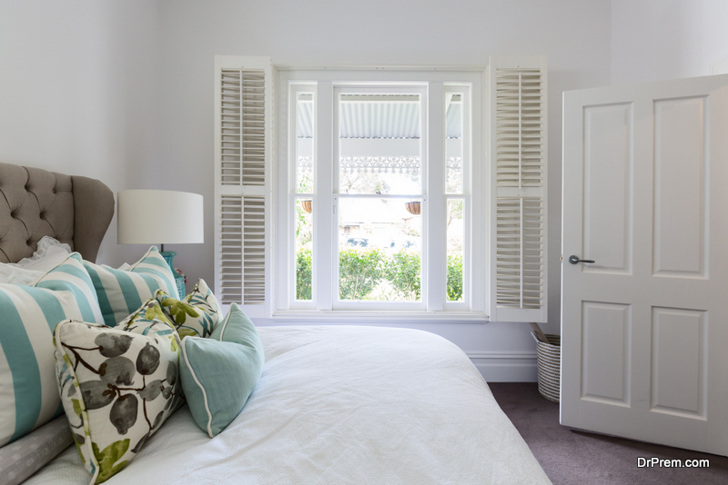 Shutters protect your privacy