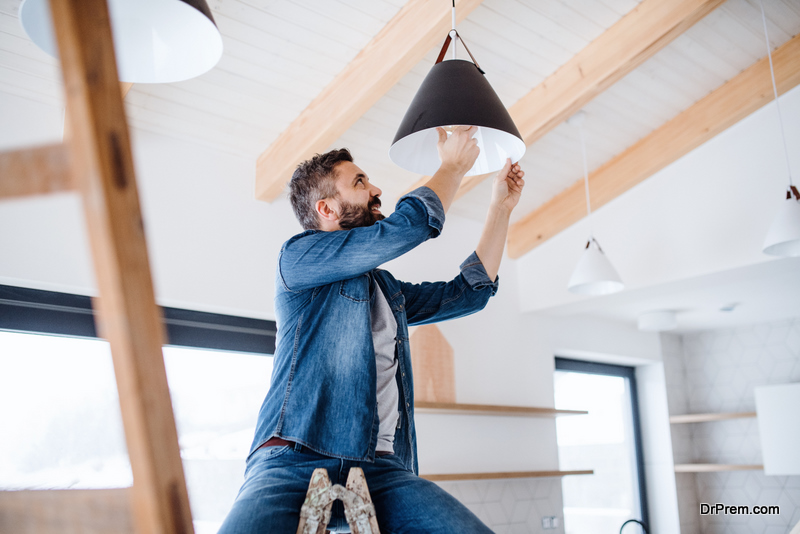 man busy in DIY project