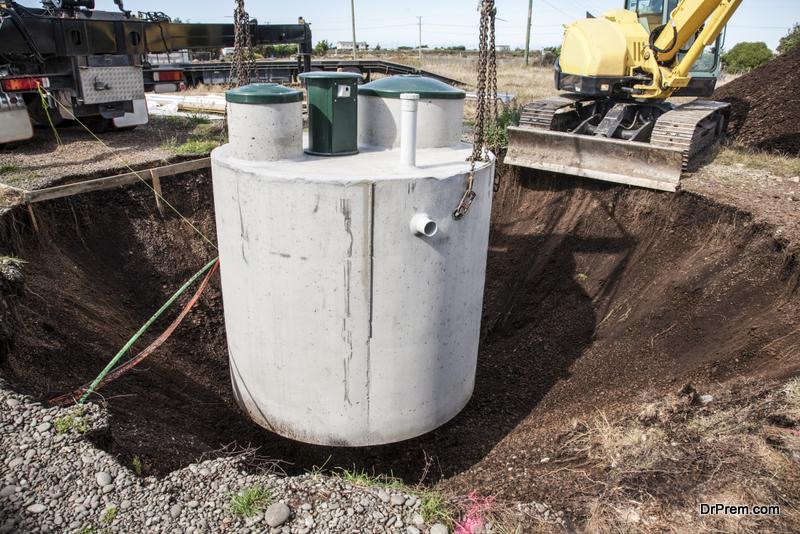 Installing Septic Tank
