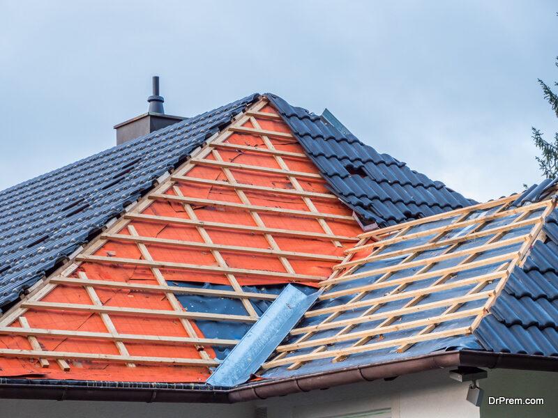 roofing work in progress