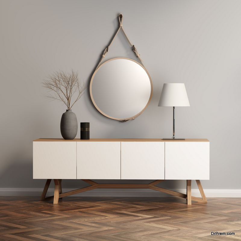 An Artistic Lamp on Your Hallway Table