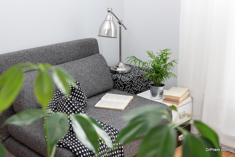 Reading Lamp by the Sofa