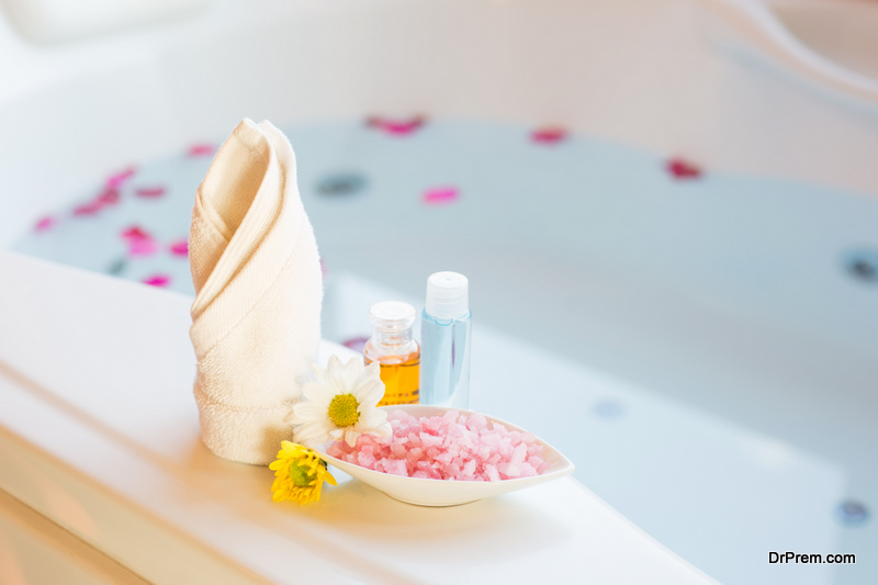 aromatherapy in the bathroom