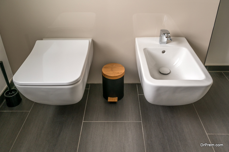 bidet Toilet and Sink