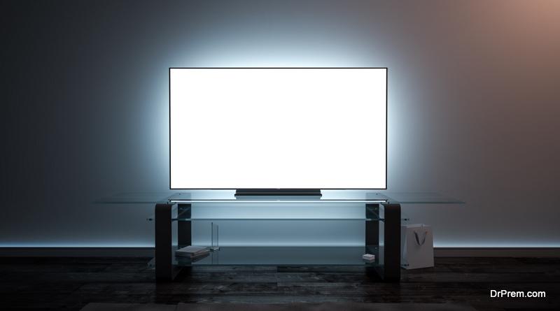 LED Tube Light Behind the LED Television