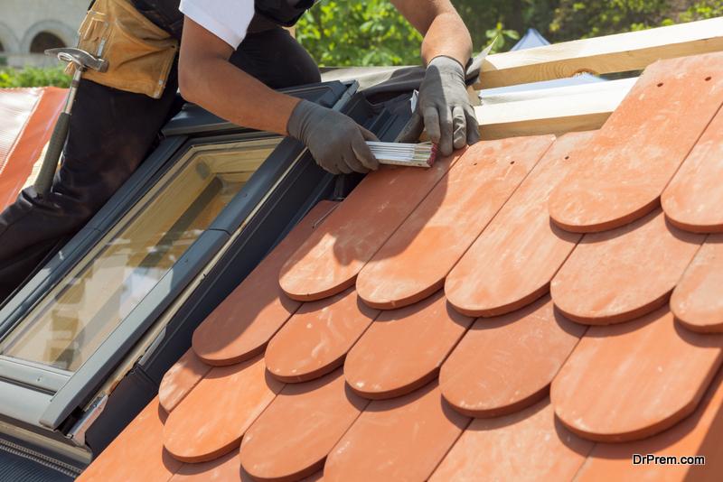 roofer's work