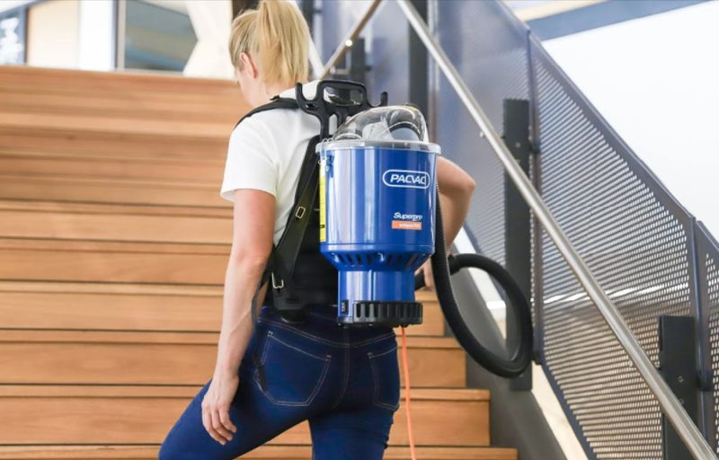 Mobility with backpack vacuum