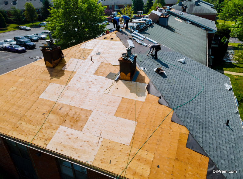 busy roofers