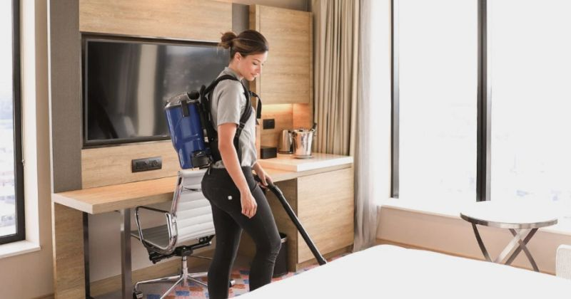 using backpack vacuum for cleaning
