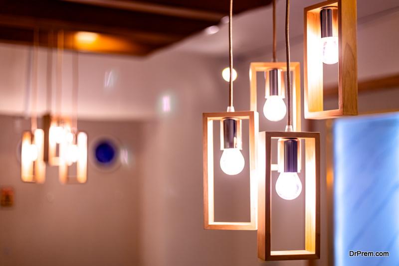 Lighting has a major impact on the room