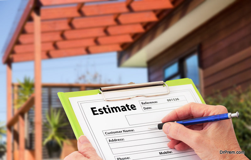 estimate of renovation