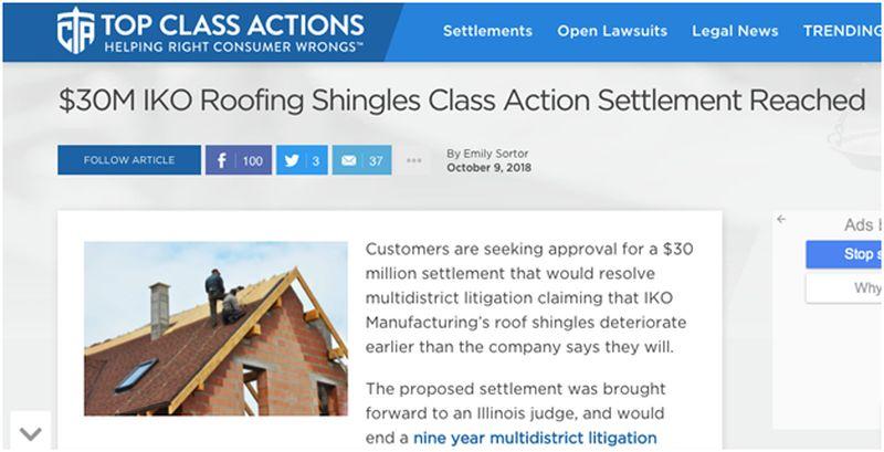 shingle manufacturer