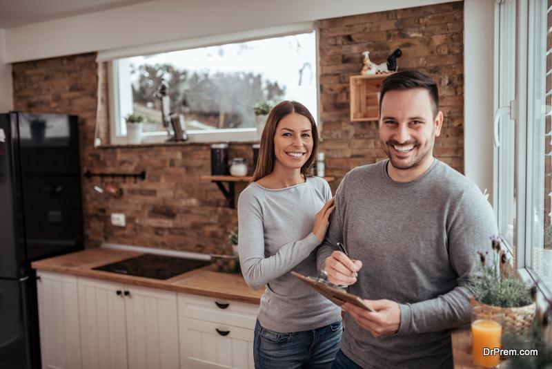 couple in Gourmet kitchen